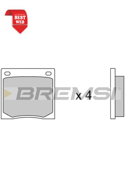 Kit pastiglie freno bremsi BP2070
