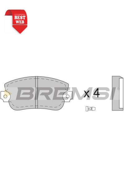 Kit pastiglie freno bremsi BP2073