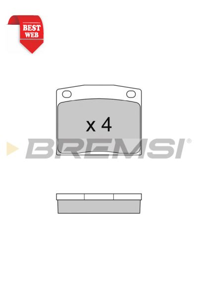 Kit pastiglie freno bremsi BP2095