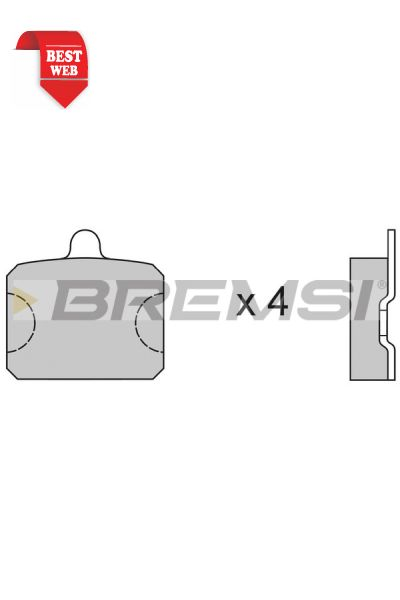 Kit pastiglie freno bremsi BP2126