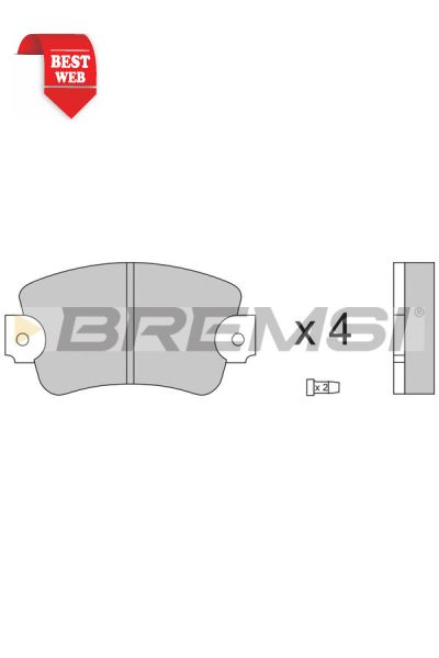 Kit pastiglie freno bremsi BP2132