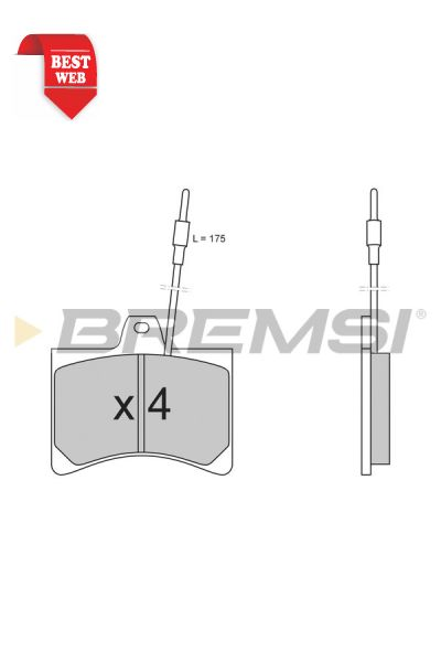 Kit pastiglie freno bremsi BP2148