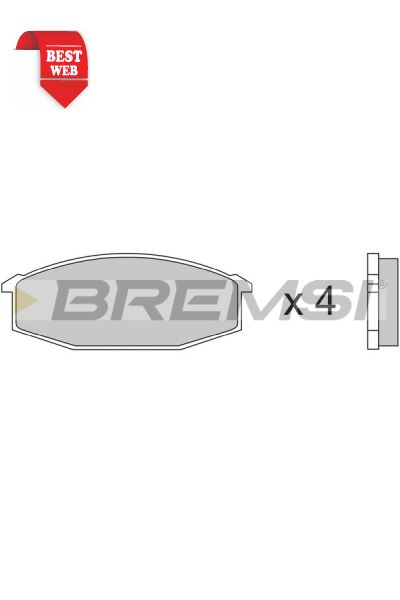 Kit pastiglie freno bremsi BP2180