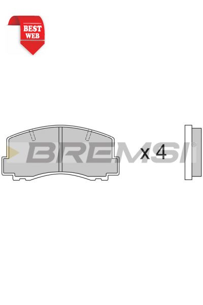 Kit pastiglie freno bremsi BP2256