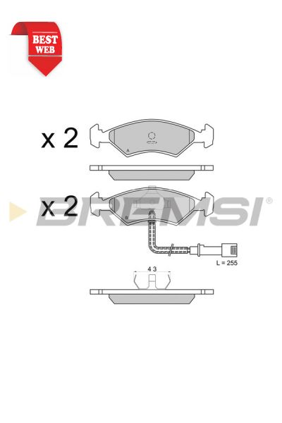 Kit pastiglie freno bremsi BP2266