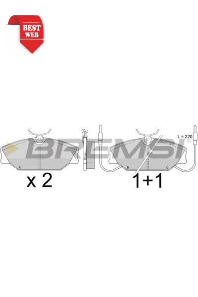 Kit pastiglie freno bremsi BP2277