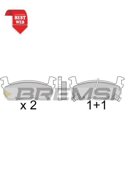 Kit pastiglie freno bremsi BP2348
