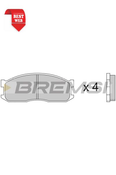 Kit pastiglie freno bremsi BP2389