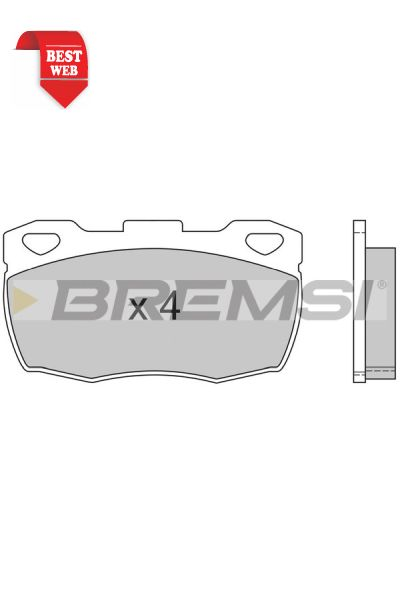 Kit pastiglie freno bremsi BP2401