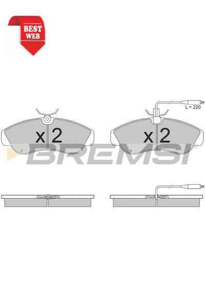 Kit pastiglie freno bremsi BP2615