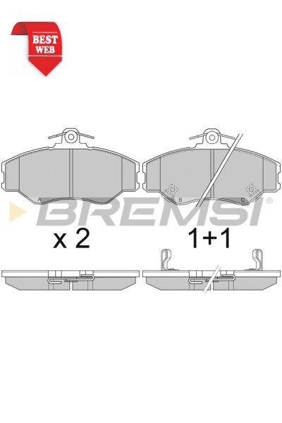 Kit pastiglie freno bremsi BP2708