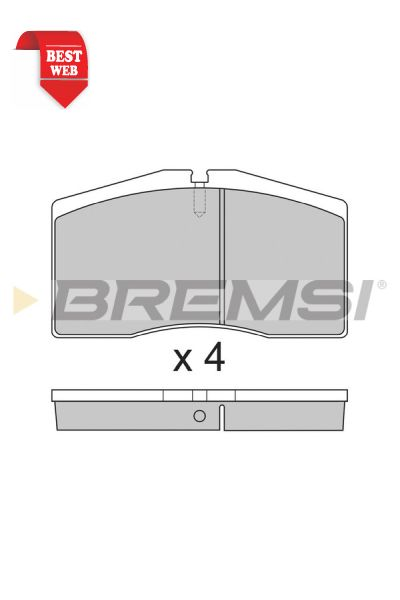 Kit pastiglie freno bremsi BP2766