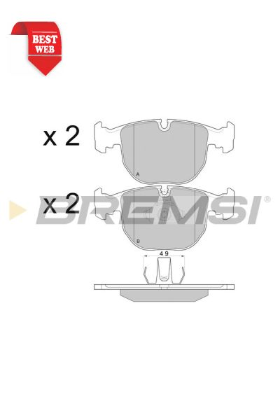 Kit pastiglie freno bremsi BP2774
