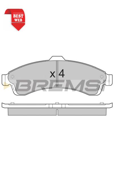 Kit pastiglie freno bremsi BP3308