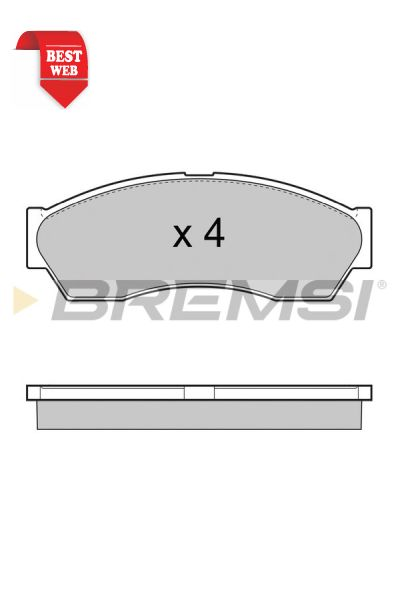 Kit pastiglie freno bremsi BP3434