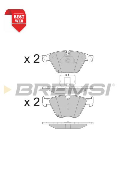 Kit pastiglie freno bremsi BP3500