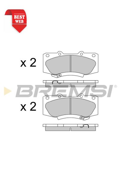 Kit pastiglie freno bremsi BP3549