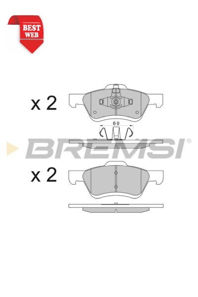 Kit pastiglie freno bremsi BP3567