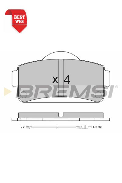 Kit pastiglie freno bremsi BP3663