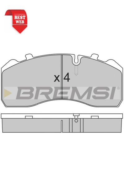 Kit pastiglie freno bremsi BP7284