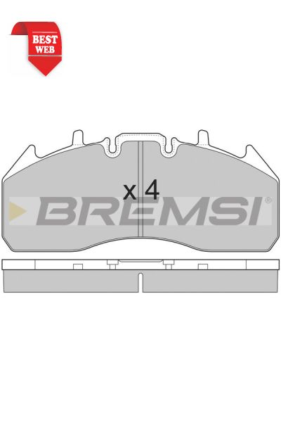 Kit pastiglie freno bremsi BP7326