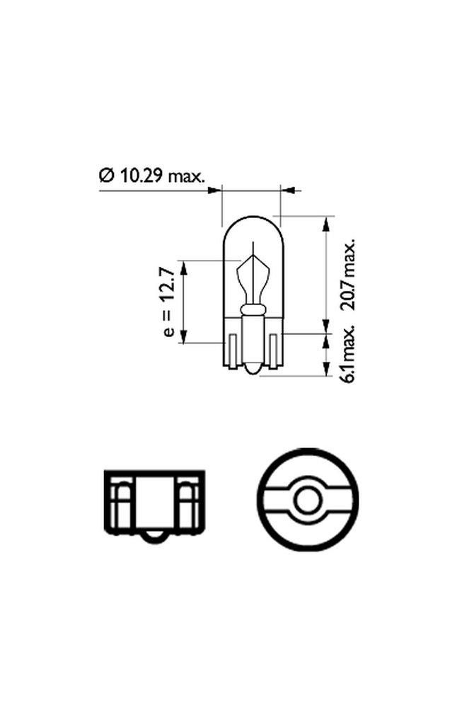 lampadina, luce di parcheggio/posizione philips 13256cp